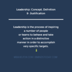 Leadership: Concept, Definition & Justification Leadership | Concept | Definition Leadership | Concept | Definition leadership concept definition 150x150