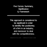 Five Forces Model: Summary, Significance & Framework Using The Five Forces Model In Industry Analysis Using The Five Forces Model In Industry Analysis FIVE FORCES SIGNIFICANCE 150x150