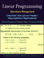 Linear Programming | Structure | Model | Assumptions Key Concepts In Operations Management Key Concepts In Operations Management Linear Programming Checklist Structure Model Assumptions Applications 150x194