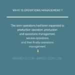 Key Concepts In Operations Management | Production Processes Of Operations Management | Significance | Motives Processes Of Operations Management | Significance | Motives OPERATIONS MGMT 150x150