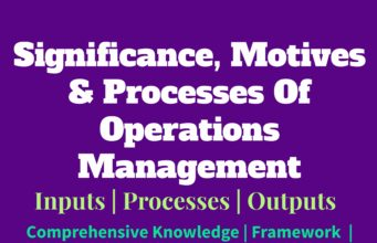 business knowledge Business Knowledge Centre With Free Resources and Tools Significance motives and processes of Operations Management