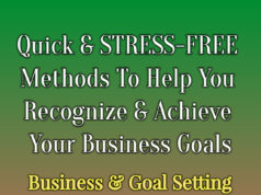 Quick And STRESS-FREE Methods To Help You Recognize And Achieve Your TRUE Goals In Business business Business Tools Quick And STRESS FREE Methods To Help You Recognize And Achieve Your TRUE Goals In Business 238x178