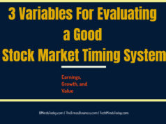 What are the variables to evaluate good market timing system