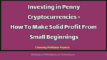 Investing in Penny Cryptocurrencies – How To Make Solid Profit From Small Beginnings  The Top 3 Challenges and Risks With Penny Cryptocoins Trading Investing in Penny Cryptocurrencies How To Make Solid Profit From Small Beginnings 150x84