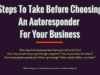 business knowledge Business Knowledge Centre With Free Resources and Tools Steps To Take Before Choosing An Autoresponder For Your Business 100x75