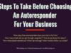 entrepreneur Entrepreneur Steps To Take Before Choosing An Autoresponder For Your Business 100x75