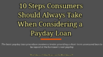 10 Steps Consumers Should Always Take When Considering a Payday Loans secured loan 5 Key Challenges Involved In Secured Loan Procedure 10 Steps Consumers Should Always Take When Considering a Payday Loan 150x84