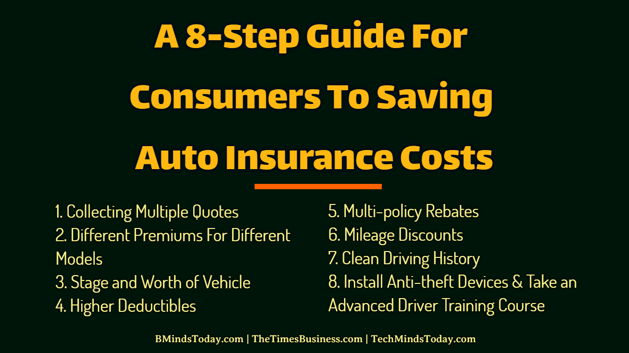 A 8-Step Guide For Consumers To Saving Auto Insurance Costs auto insurance A 8-Step Guide For Consumers To Saving Auto Insurance Costs A 8 Step Guide For Consumers To Saving Auto Insurance Costs