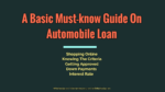 A Basic Must-know Guide On Automobile Loan Industry automobile The Key Factors A Buyer Must Consider When Choosing An Automobile Finance Firm Online A Basic Must know Guide On Automobile Loan  150x84