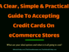 A Clear, Simple and Practical Guide To Accepting Credit Cards On eCommerce Stores