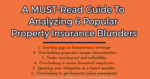 A MUST-Read Guide To Analyzing 6 Popular Property Insurance Blunders secured loan 5 Key Challenges Involved In Secured Loan Procedure A MUST Read Guide To Analyzing 6 Popular Property Insurance Blunder 150x79