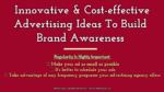Innovative & Cost-effective Advertising Ideas To Build Brand Awareness strategic advertising The Key Secrets To Successful Strategic Advertising Practices Innovative Cost effective Advertising Ideas To Build Brand Awareness  150x84