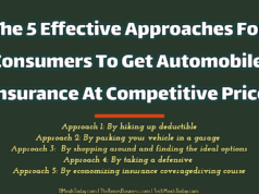 The 5 Effective Approaches For Consumers To Get Automobile Insurance At Competitive Price