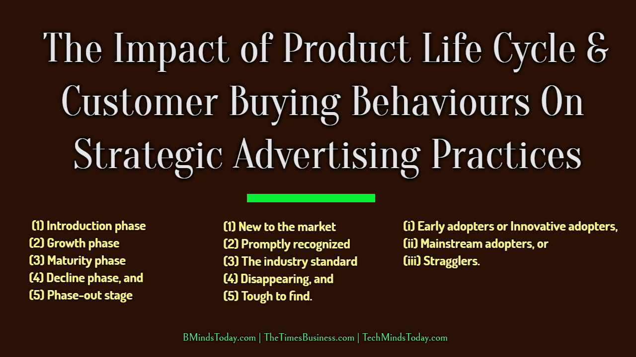 The Impact of Product Life Cycle & Customer Buying Behaviours On Strategic Advertising Practices product life cycle The Impact of Product Life Cycle & Customer Buying Behaviours On Strategic Advertising Practices The Impact of Product Life Cycle Customer Buying Behaviours On Strategic Advertising Practices