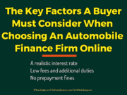 automotive Automotive The Key Factors A Buyer Must Consider When Choosing An Automobile Finance Firm Online 180x135